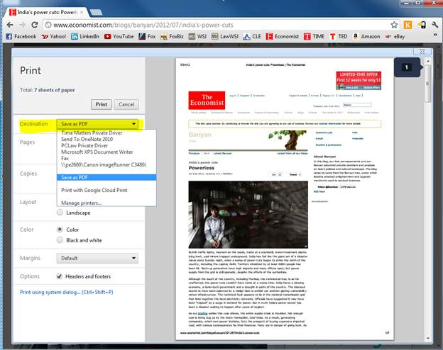 Quick Tip: Printing to PDF in Google Chrome